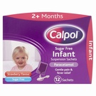 Calpol Infant Susp Sachets - Sugar Free Strawberry (12 sachets)
