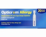 Opticrom Allergy Single Dose Eye Drop Solution (20 Single Doses)