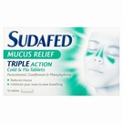 Sudafed Mucus Relief Tablets (16 Tablets)