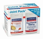 Lamberts Glucosamine Complete and Pure Fish Oil 1100mg Joint Pack (120 tabs & 60 Caps)