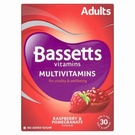 Bassetts Adult Multivitamin Raspberry & Pomegranate (30 Pastilles)