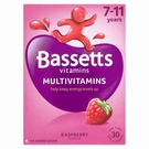 Bassetts 7-11 Years Multivitamins Raspberry (30 Pastilles)