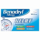 Benadryl Allergy Relief (12 Capsules)