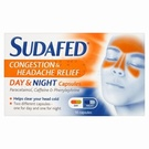 Sudafed Congestion & Headache Day & Night (16 Capsules)