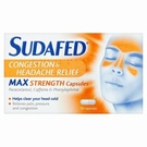 Sudafed Congestion & Headache Max Strength (16 Capsules)